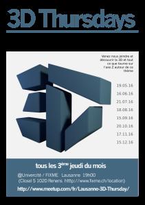 3D Thursday poster